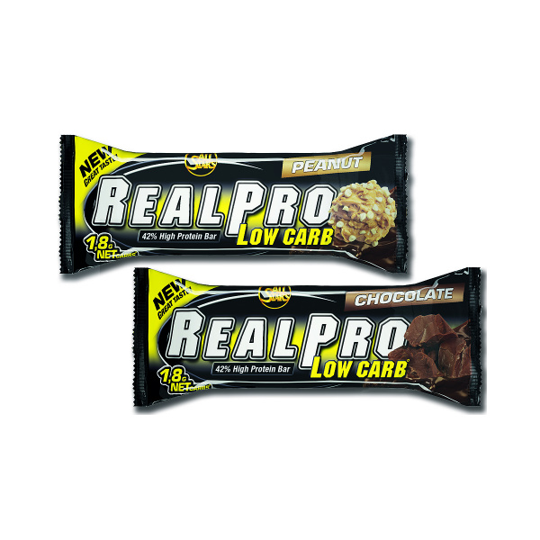 All Stars Real-Pro Low Carb baltyminių batonėlių vaizdas